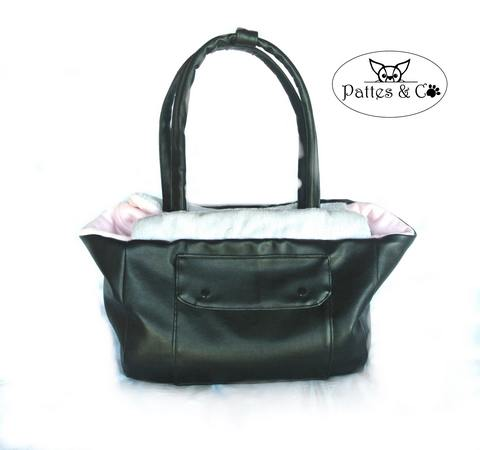 sac de transport doublé polaire rose